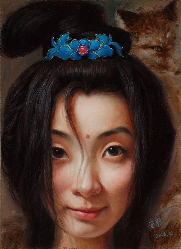 色彩斑斓的神鬼狐妖——安静聊斋油画插图19