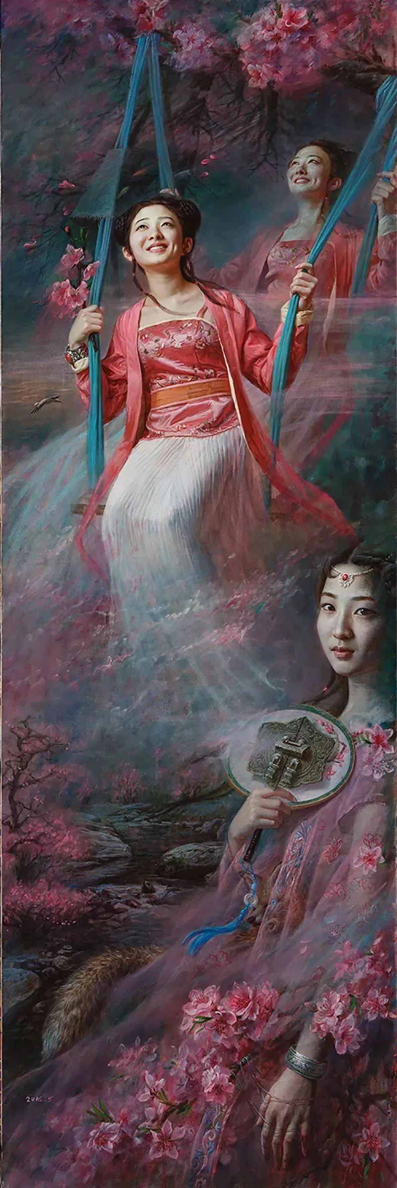 色彩斑斓的神鬼狐妖——安静聊斋油画插图21