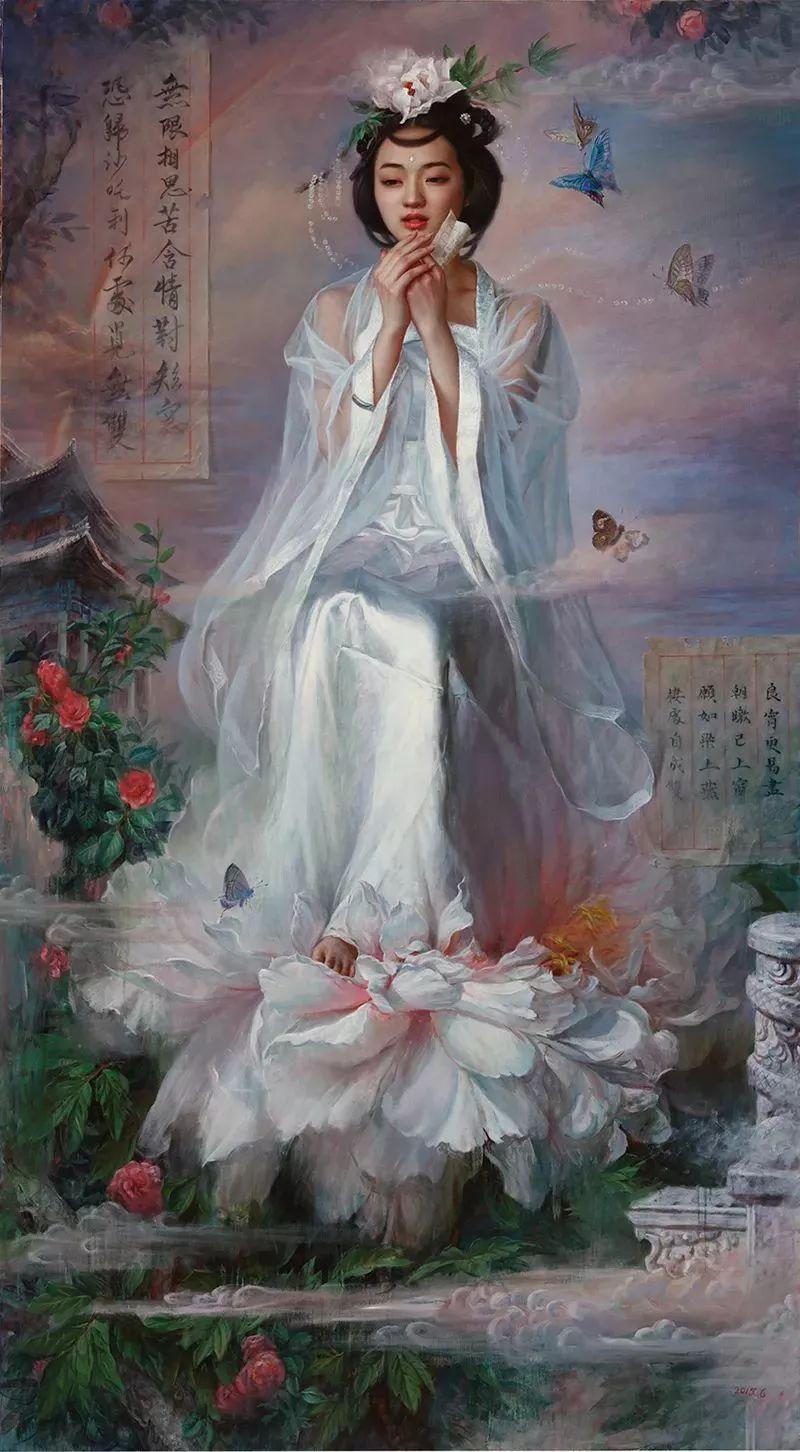 色彩斑斓的神鬼狐妖——安静聊斋油画插图24