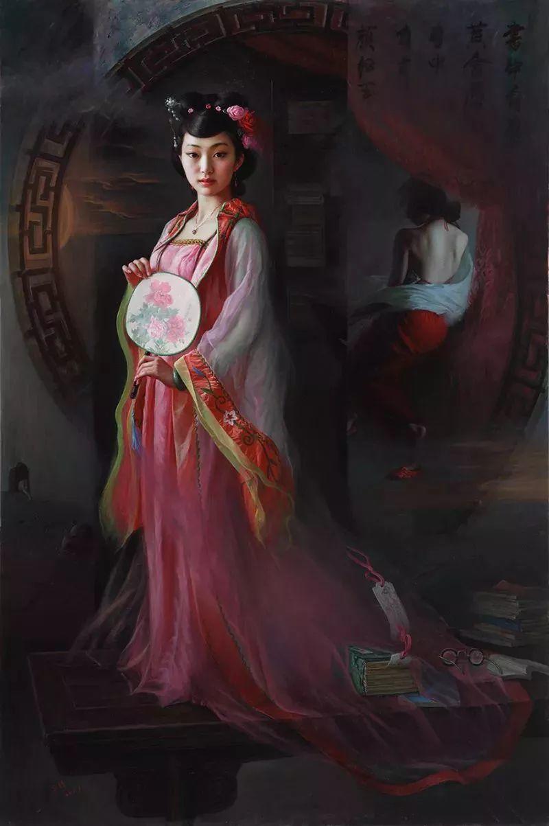 色彩斑斓的神鬼狐妖——安静聊斋油画插图25