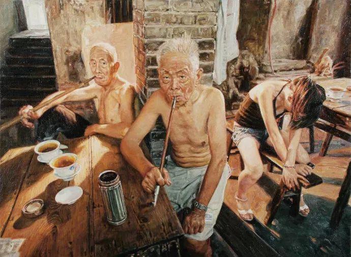 他画了20年,把重庆最破的茶馆画成了最火的网红店插图1