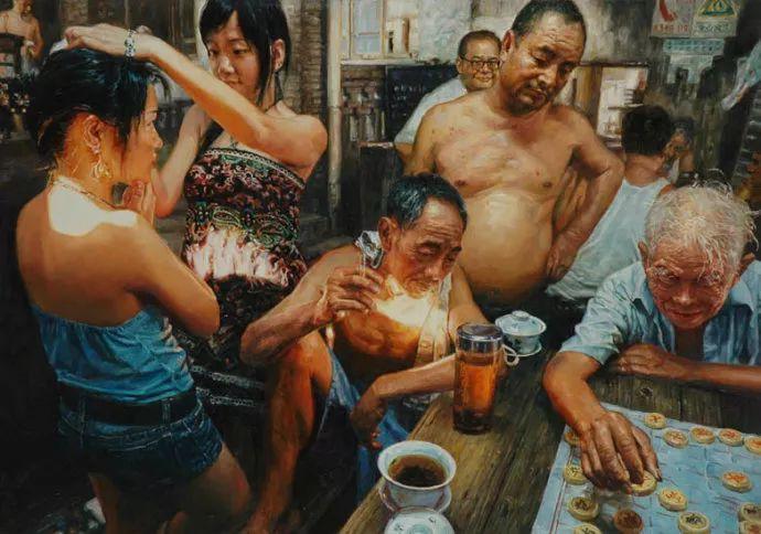 他画了20年,把重庆最破的茶馆画成了最火的网红店插图3
