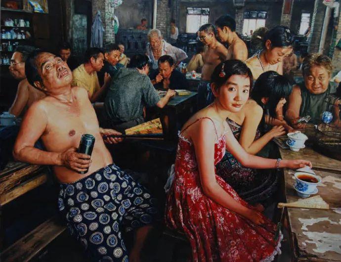 他画了20年,把重庆最破的茶馆画成了最火的网红店插图5