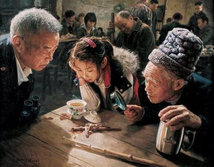 他画了20年,把重庆最破的茶馆画成了最火的网红店插图9
