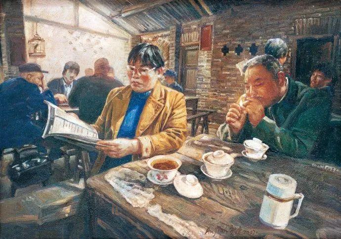 他画了20年,把重庆最破的茶馆画成了最火的网红店插图17