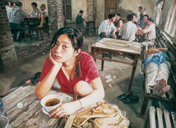 他画了20年,把重庆最破的茶馆画成了最火的网红店插图21