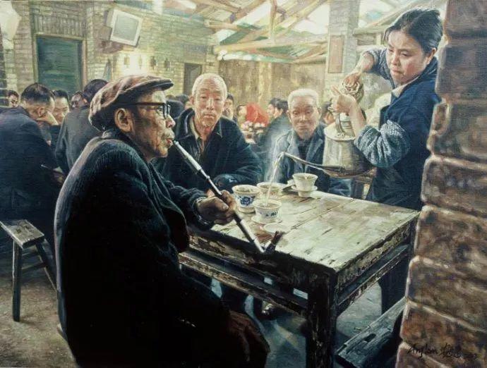 他画了20年,把重庆最破的茶馆画成了最火的网红店插图31