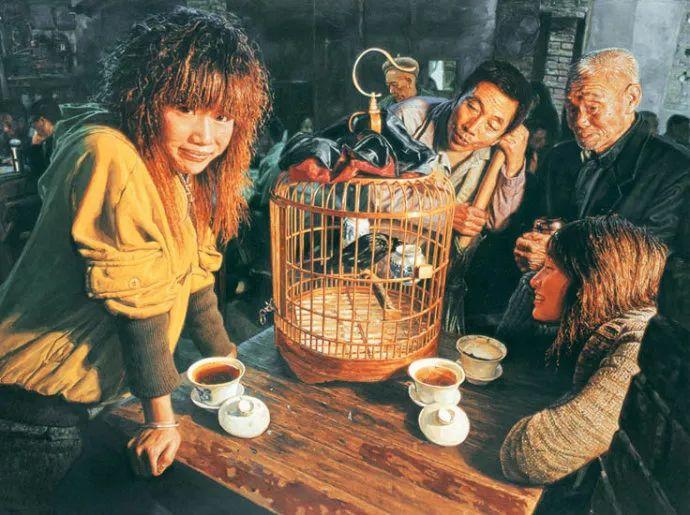 他画了20年,把重庆最破的茶馆画成了最火的网红店插图53