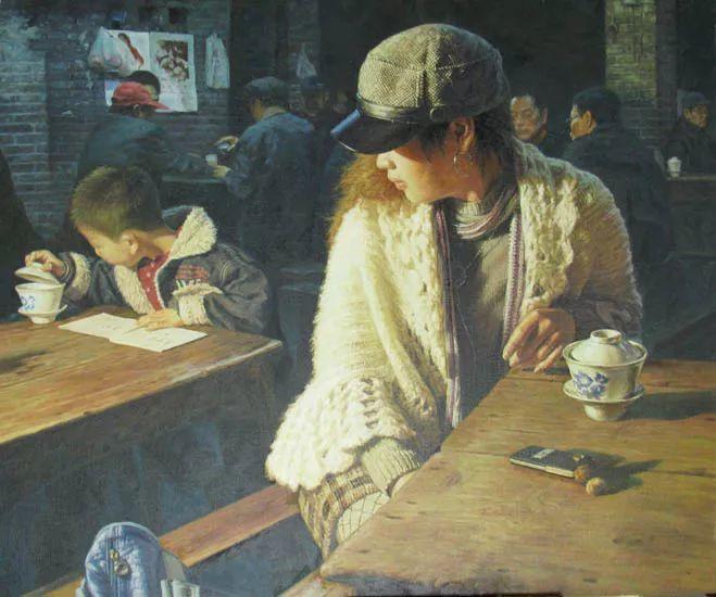 他画了20年,把重庆最破的茶馆画成了最火的网红店插图63