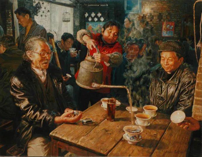 他画了20年,把重庆最破的茶馆画成了最火的网红店插图65