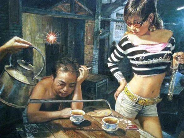 他画了20年,把重庆最破的茶馆画成了最火的网红店插图73