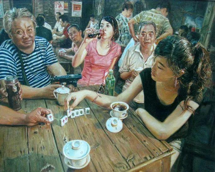他画了20年,把重庆最破的茶馆画成了最火的网红店插图77