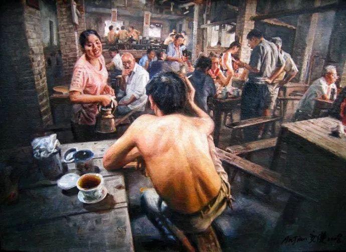 他画了20年,把重庆最破的茶馆画成了最火的网红店插图81