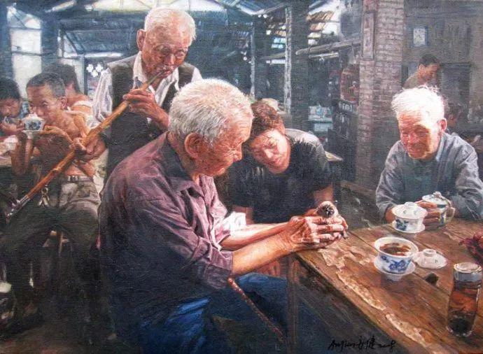 他画了20年,把重庆最破的茶馆画成了最火的网红店插图83