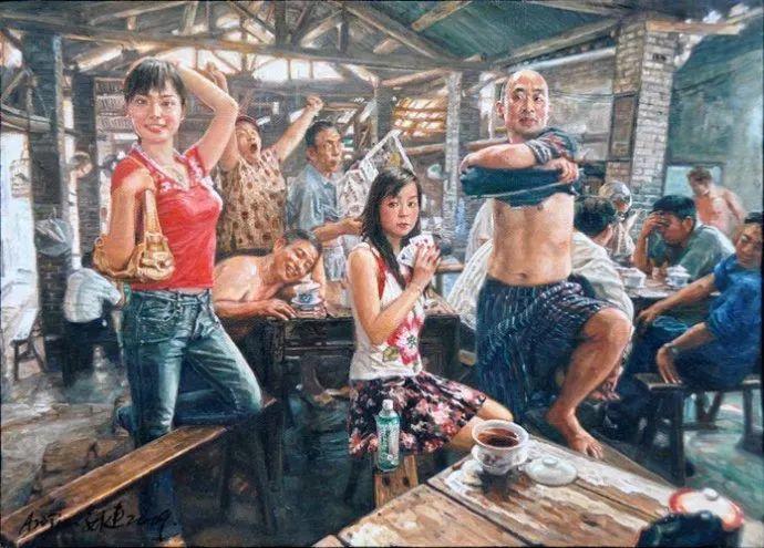 他画了20年,把重庆最破的茶馆画成了最火的网红店插图89