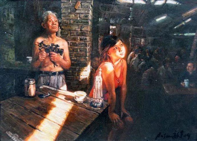 他画了20年,把重庆最破的茶馆画成了最火的网红店插图91