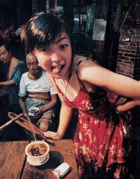 他画了20年,把重庆最破的茶馆画成了最火的网红店插图103