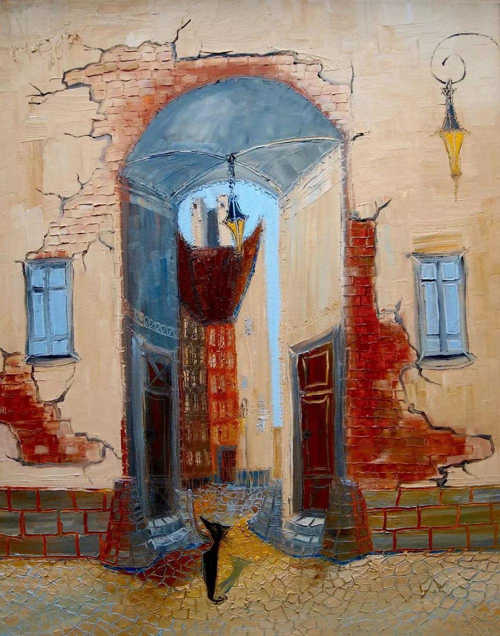 街景油画 波兰女艺术家Justyna Kopania插图25