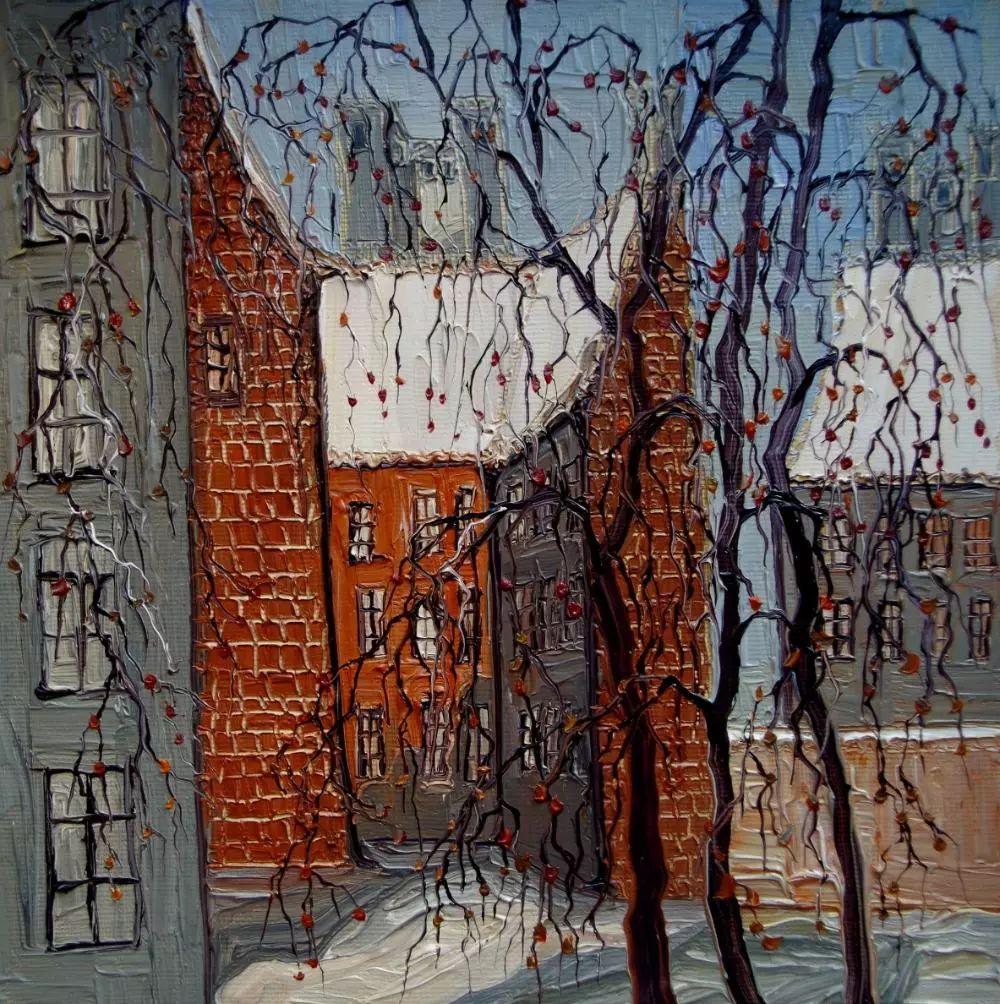 街景油画 波兰女艺术家Justyna Kopania插图27