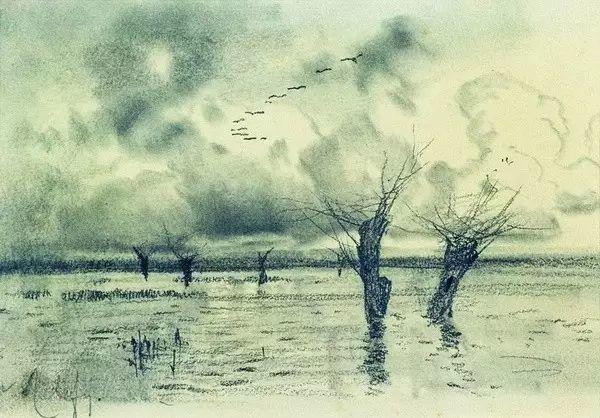 列维坦   俄罗斯杰出的写生画家 现实主义风景画大师插图66