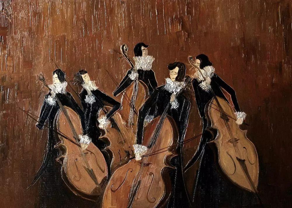 音乐舞蹈题材油画作品欣赏插图10
