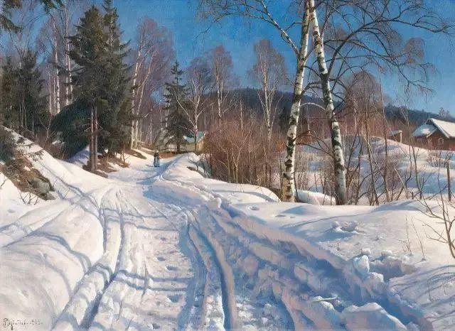 浪漫主义田园风光 丹麦油画大师蒙森德插图56