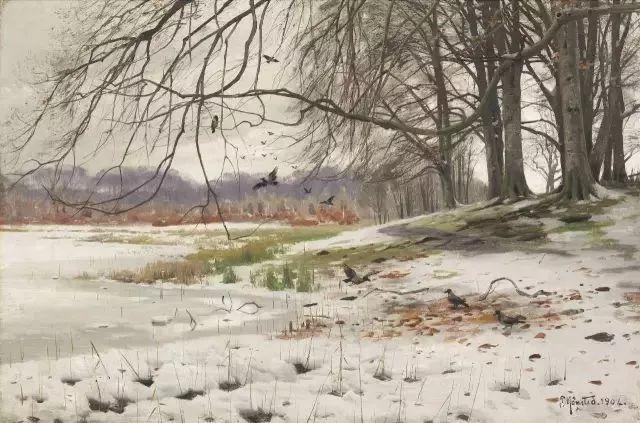 浪漫主义田园风光 丹麦油画大师蒙森德插图60