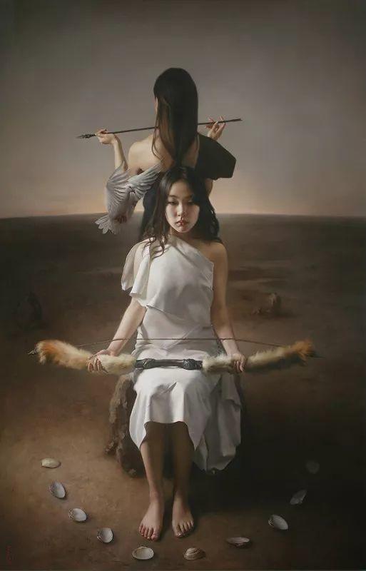 上古的空灵 王能俊油画作品欣赏插图93