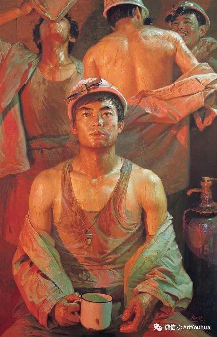钢水·汗水 广廷渤油画欣赏插图