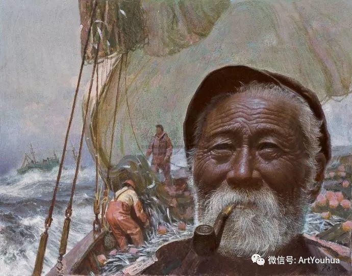 钢水·汗水 广廷渤油画欣赏插图3