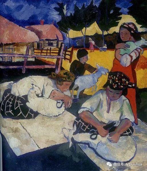 俄罗斯前卫艺术家Natalia Goncharova (1881-1962)插图9