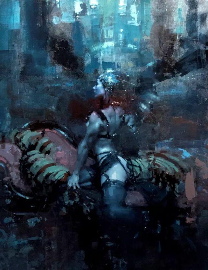 潇洒的笔触 性感的人体   美国当代画家Jeremy Mann插图39