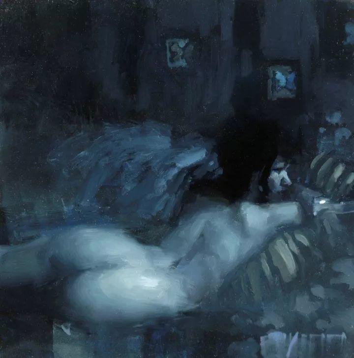 潇洒的笔触 性感的人体   美国当代画家Jeremy Mann插图69
