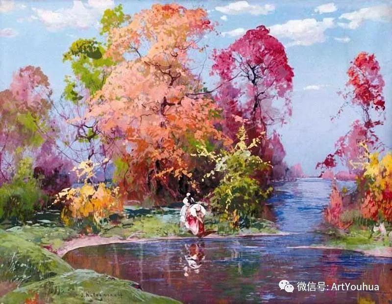 淳朴的风景 乌克兰画家Stepan Kolesnikov插图1
