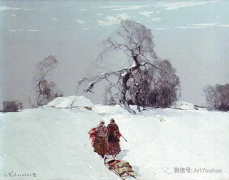 淳朴的风景 乌克兰画家Stepan Kolesnikov插图11