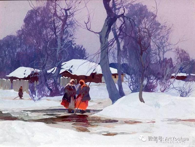 淳朴的风景 乌克兰画家Stepan Kolesnikov插图31