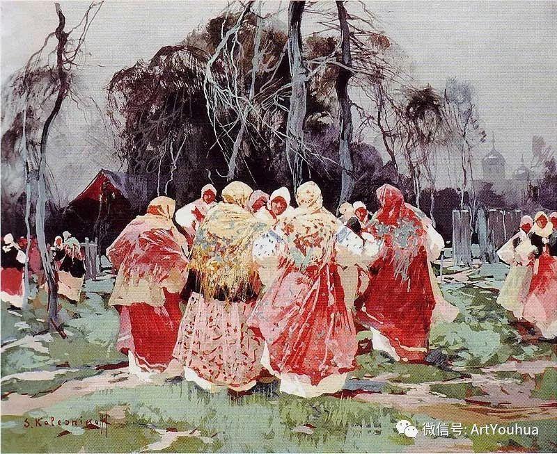 淳朴的风景 乌克兰画家Stepan Kolesnikov插图39