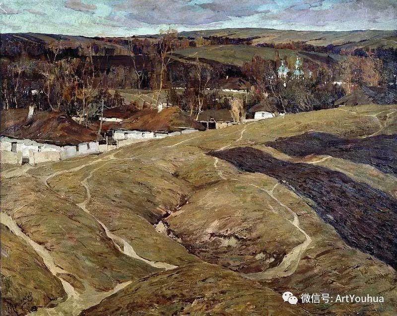 淳朴的风景 乌克兰画家Stepan Kolesnikov插图49