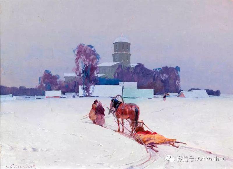 淳朴的风景 乌克兰画家Stepan Kolesnikov插图51