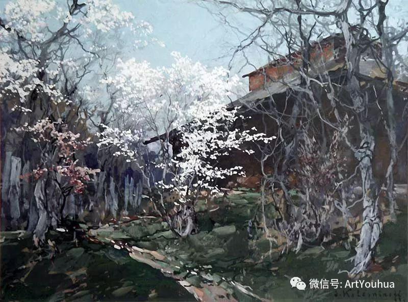 淳朴的风景 乌克兰画家Stepan Kolesnikov插图59