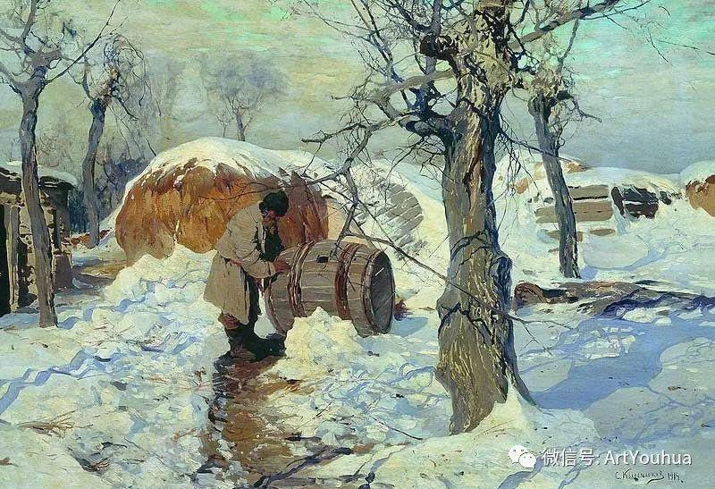 淳朴的风景 乌克兰画家Stepan Kolesnikov插图63