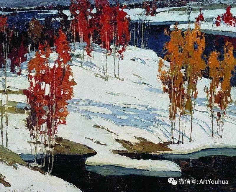 淳朴的风景 乌克兰画家Stepan Kolesnikov插图75