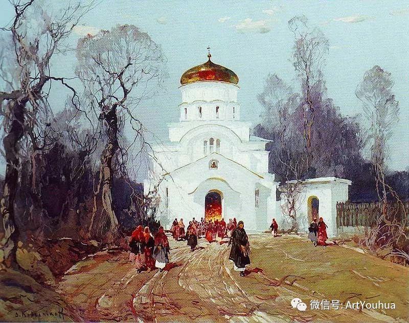 淳朴的风景 乌克兰画家Stepan Kolesnikov插图87