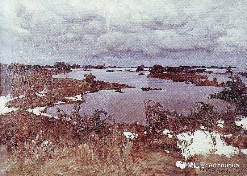 淳朴的风景 乌克兰画家Stepan Kolesnikov插图89