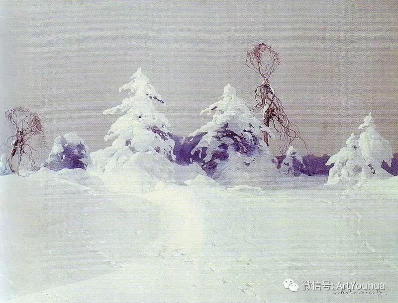 淳朴的风景 乌克兰画家Stepan Kolesnikov插图97