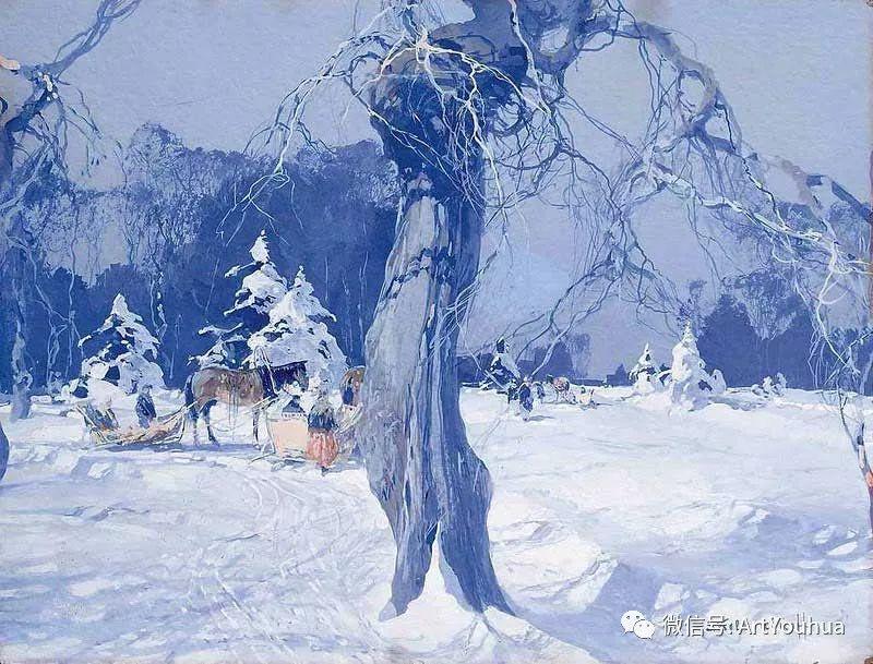 淳朴的风景 乌克兰画家Stepan Kolesnikov插图99