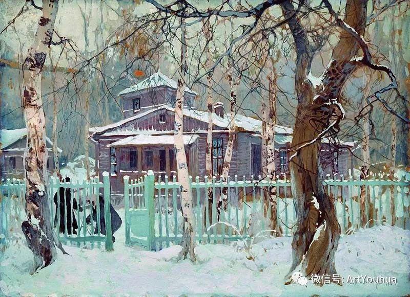 淳朴的风景 乌克兰画家Stepan Kolesnikov插图107