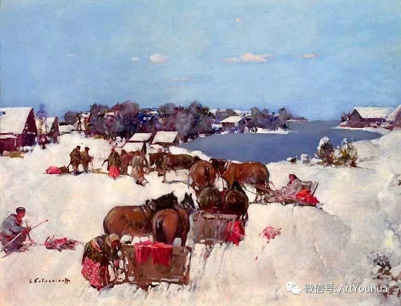 淳朴的风景 乌克兰画家Stepan Kolesnikov插图111