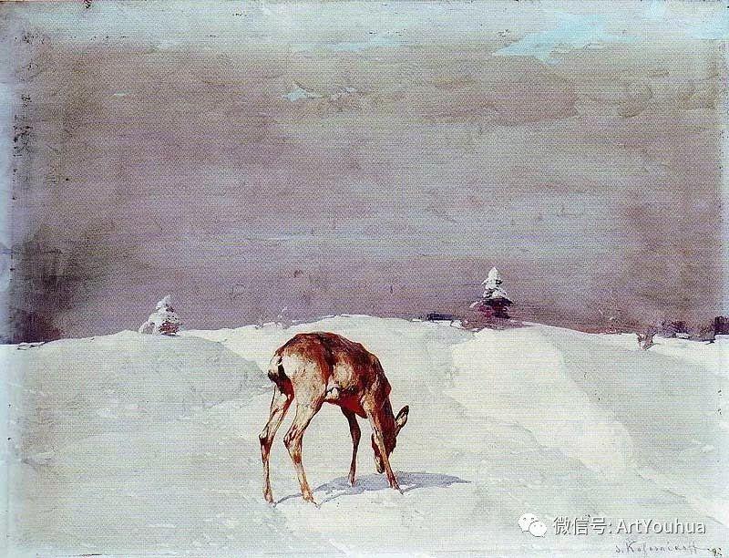 淳朴的风景 乌克兰画家Stepan Kolesnikov插图113