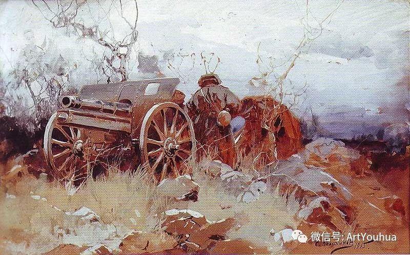 淳朴的风景 乌克兰画家Stepan Kolesnikov插图123